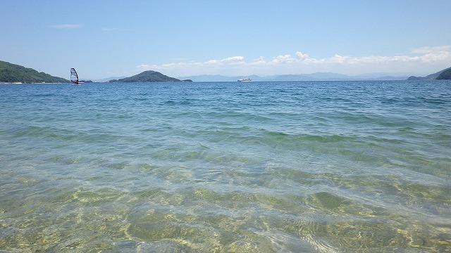 小豆島 オリーブビーチ お盆を過ぎてひっそり静まったので行ってみる