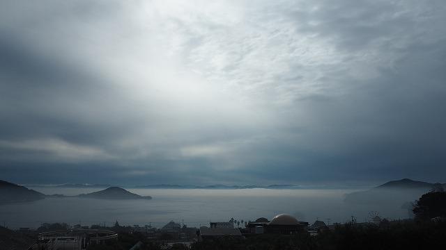 台風がやってくる 静かすぎて恐い 小豆島 内海湾