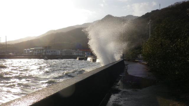 小豆島の台風