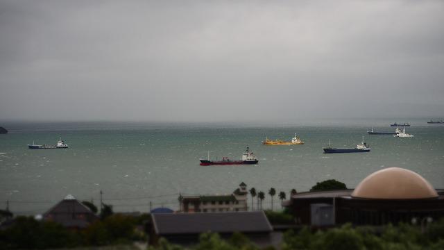 2018年台風24号接近中・小豆島の内海湾