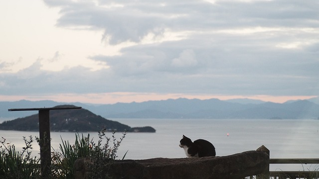 大晦日の小豆島・内海湾の夕暮れ