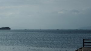内海湾に蜃気楼