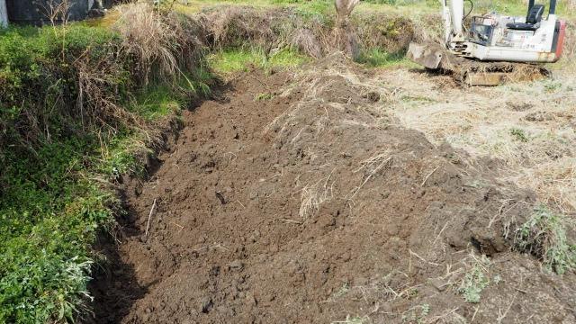 田んぼの鋤床層破砕