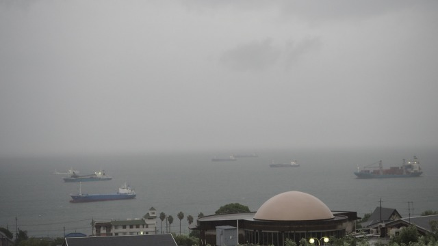 小豆島に台風10号接近中2019.8.14