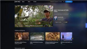 フランスのテレビ局TF1の取材