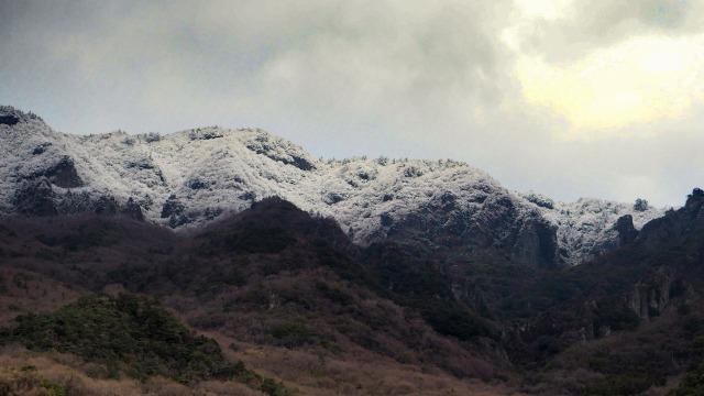 3月に寒霞渓に雪