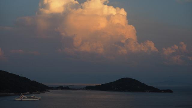 2020年6月27日小豆島/内海湾の夕暮れ