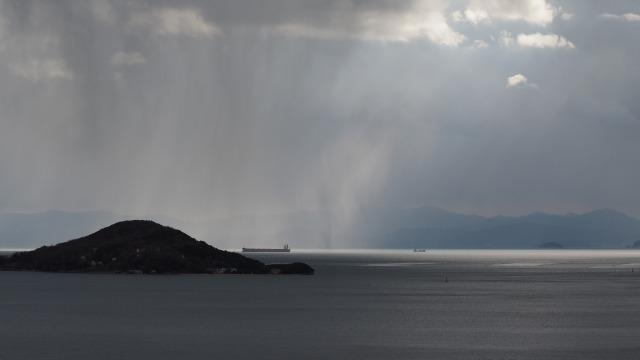 2020年小豆島・内海湾に降る雪