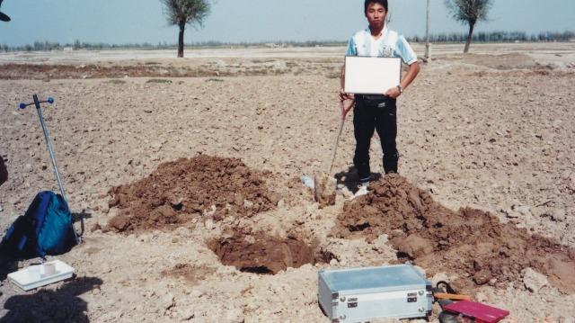内モンゴル自治区で大豆を育てる