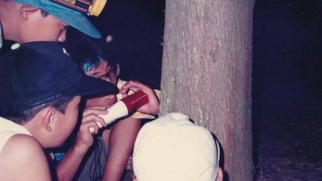 1987年直島での最初のチャレンジザサマーキャンプ